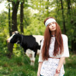 Young hippie girl — Stockfoto