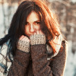 Beautiful woman winter portrait. — Stock Photo #23341114