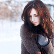 Young brunette in winter park. — Stock Photo #23341134