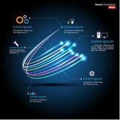 волоконно-оптической связи / делового общения / сетевые технологии — Cтоковый вектор