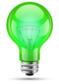 Light Bulb Green — Stock Vector