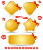 Vector for tag sale promotion — Stock Vector