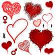 Heart drawing collection love concept — Stockvektor  #42234507