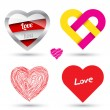 Stock Vector: Love concept object.