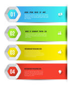 Modern abstract design template options for business concept. — Stock Vector
