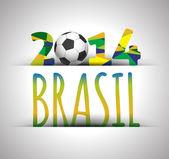 Soccer for poster object — Stock Vector