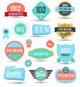 Speech and tag label set — Stock Vector