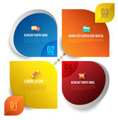 Vector circle business concepts with icons — Stock vektor