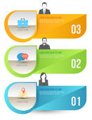 Abstract business infographics options template. — Stock Vector