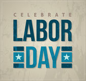 Labor day poster and card — Stock Vector