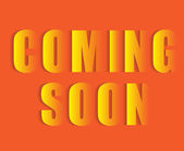Coming soon text — Stock Vector