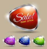 Sale tag banner — Stock Vector