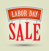 Labor day sale American signs hanging — Stock Vector