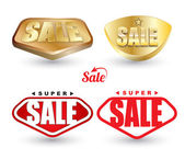 Super SALE tag set. — Stockvector