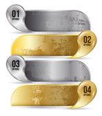 Banner options gold — Vector de stock