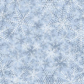 Seamless winter background of snowflake. — Stock Vector