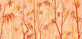 Bakgrund med många bambu i asiatisk stil. — Stockvektor