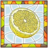 Ilustracja wektorowa żółty owoc cytryny. — Wektor stockowy