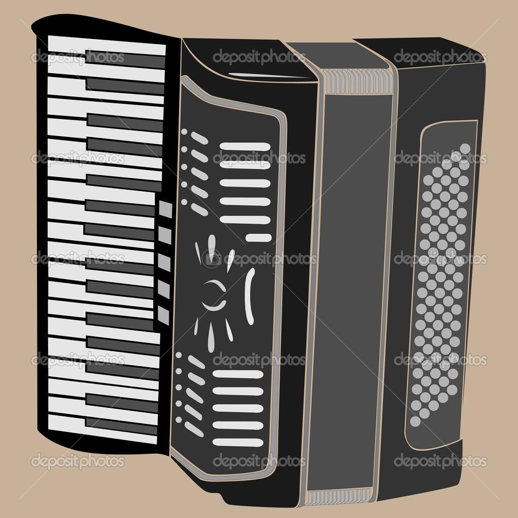 矢量插画的手风琴 - 图库插图