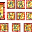 Mosaic capital letters alphabet. - Stockvectorbeeld