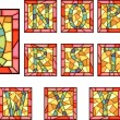 Mosaic capital letters alphabet. - 图库矢量图片