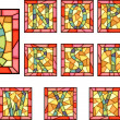 Mosaic capital letters alphabet. - Stock vektor