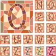 Mosaic capital letters alphabet. — Stock Vector #22228397