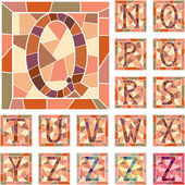 Mosaic capital letters alphabet. — Vector de stock