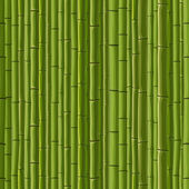 Seamless background of green wall bamboo. — Stock Vector