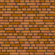 Seamless orange brick wall background. — Stock Vector #23807785