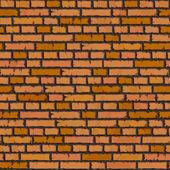 Seamless orange brick wall background. — Stock Vector