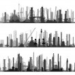 Horizontal illustration set industrial part of city. — Stock Vector #32312167