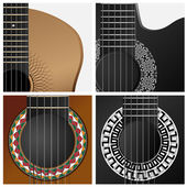 Vector icon of some types guitar. — Stock Vector