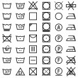 Set of icons on clothing label. — Stock Vector #36260349