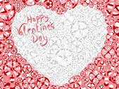 Vector card of Valentine's heart. — Stock Vector