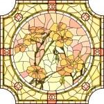 Vector illustration of flower orange flax. — Stock Vector #49226205