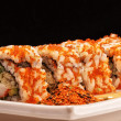 California Maki Sushi with Masago - Stockfoto