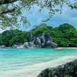 Beautiful scenery of Tanjung Tinggi Belitung — Foto de Stock