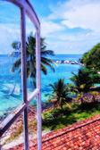 Light house window's view — Stock Photo