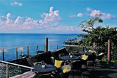 Nice verandah with great sea view — Stock Photo