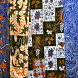 Indonesian batiks - West Java, back ground - Stock Photo