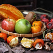 Stock Photo: Close up fruits and rotten spices