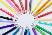 Color pencil with O shape, white back ground — Stock Photo