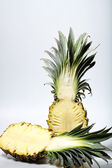 Slice pineapple, isolated with white back ground — Stock Photo
