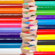 Color pencil meet each other — Stock Photo