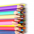 Stock Photo: Color pencils in line up
