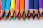 Color pencils line up — Stock Photo