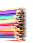 Color pencils in line up — Stock Photo
