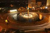 City fountain at night — Stock Photo