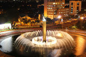 City fountain at night — Foto Stock